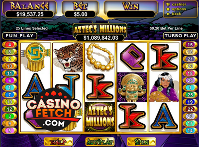 Aztec Millions Video Slots Review At RTG Casinos