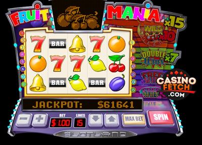 Fruit Mania Progressive 3D Video Slots Review At Slotland Casino