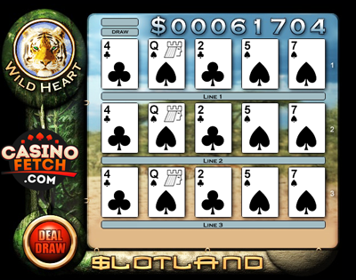 Wild Heart 3D Video Slots Review At Slotland Casino