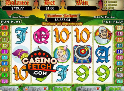 Prince Of Sherwood Video Slots Game Reviews At US Casinos