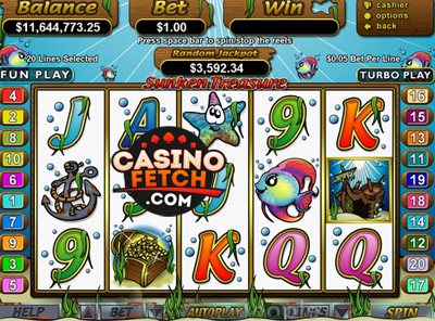 Sunken Treasures Video Slots Game Reviews At US Casinos