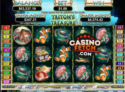 Tritons Treasure Online Slot Game Reviews At US Casinos
