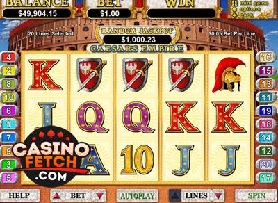 Caesars Empire Progressive Video Slots Review At RTG Casinos