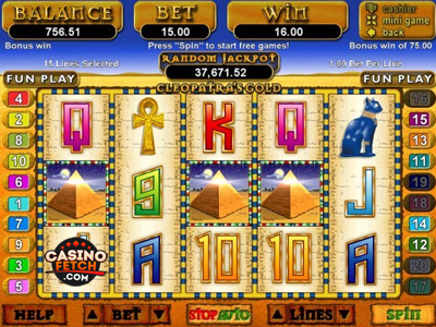 Cleopatra Gold RTG Progressive Video Slot Game Review