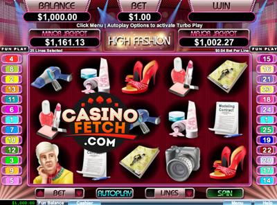 High Fashion Online Progressive Video Slot Review at RTG Casinos