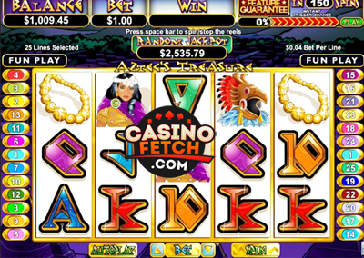 Aztec Treasures Features Guarantee Slot