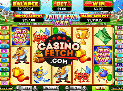 Fruit Bowl XXV Video Slots Review At RTG Casinos