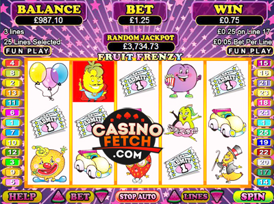 Fruit Frenzy Video Slots Review At RTG Casinos