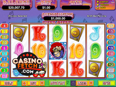 Play Funky Monkeys Slots Online at Casino.com NZ
