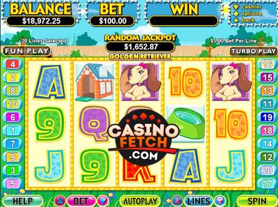 Golden Retriever Video Progressive Slots Review At RTG Casinos