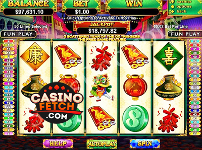 Happy Golden Ox of Happiness Slots Review At RTG Casinos