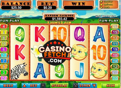 Lions Lair Online Video Slots Review At RTG Casinos
