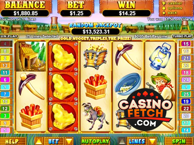 PayDirt Video Slot Game Reviews At RTG Casinos