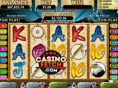 Rain Dance Video Slots Game Reviews At US Casinos
