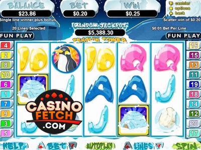 Realtime Gaming Penguin Power Online Casino Video Slot Reviews