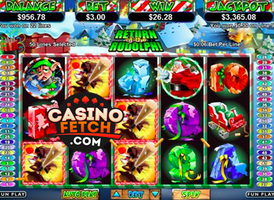 Return of the Rudolph Video Slots Game Reviews At US Casinos